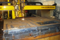 CNC flame cutting with oxy-fuel and plasma technology