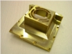 Housing parts for aeronautics. Aluminium alloy, yellow chromed. Produced of full material.